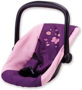 Bayer Design 77657 - Puppen Autositz Butterfly Pflaume, Babysitz, Babyschale