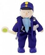 Goki 51610 - Polizist, Biegepuppe aus Holz
