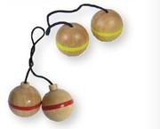 BEX 599-519 Leitergolf Ersatz Bälle, 3 Sets mit rotem Ring, Gummibaum Holz