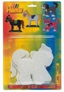 Hama - Blister mit 3 Stiftplatten (Hund, Katze, Pferd)