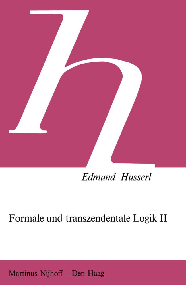 Formale und Transzendentale Logik II als Buch