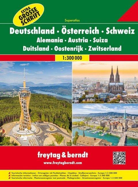 Deutschland - Österreich - Schweiz Autoatlas 1:...