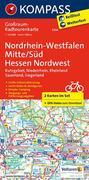 Nordrhein-Westfalen Mitte/Süd - Hessen Nordwest. Großraum-Radtourenkarte 1:125 000
