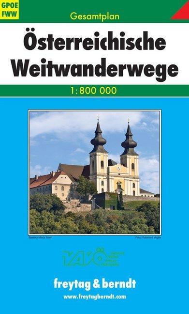 Österreichische Weitwanderwege Gesamtplan 1 : 800 000 als Buch
