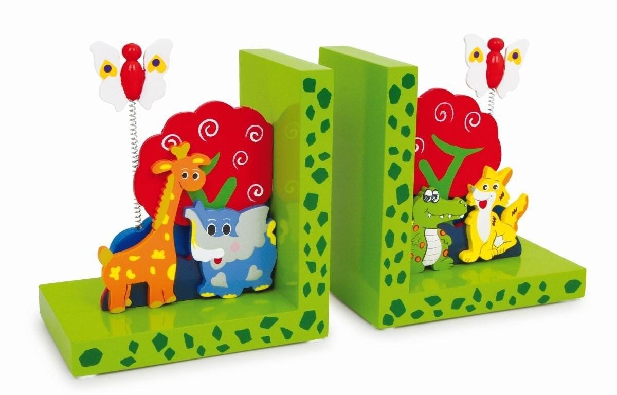 Farbenfrohe Buchstütze für Kinder