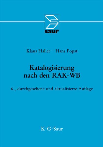 Katalogisierung nach RAK-WB als Buch