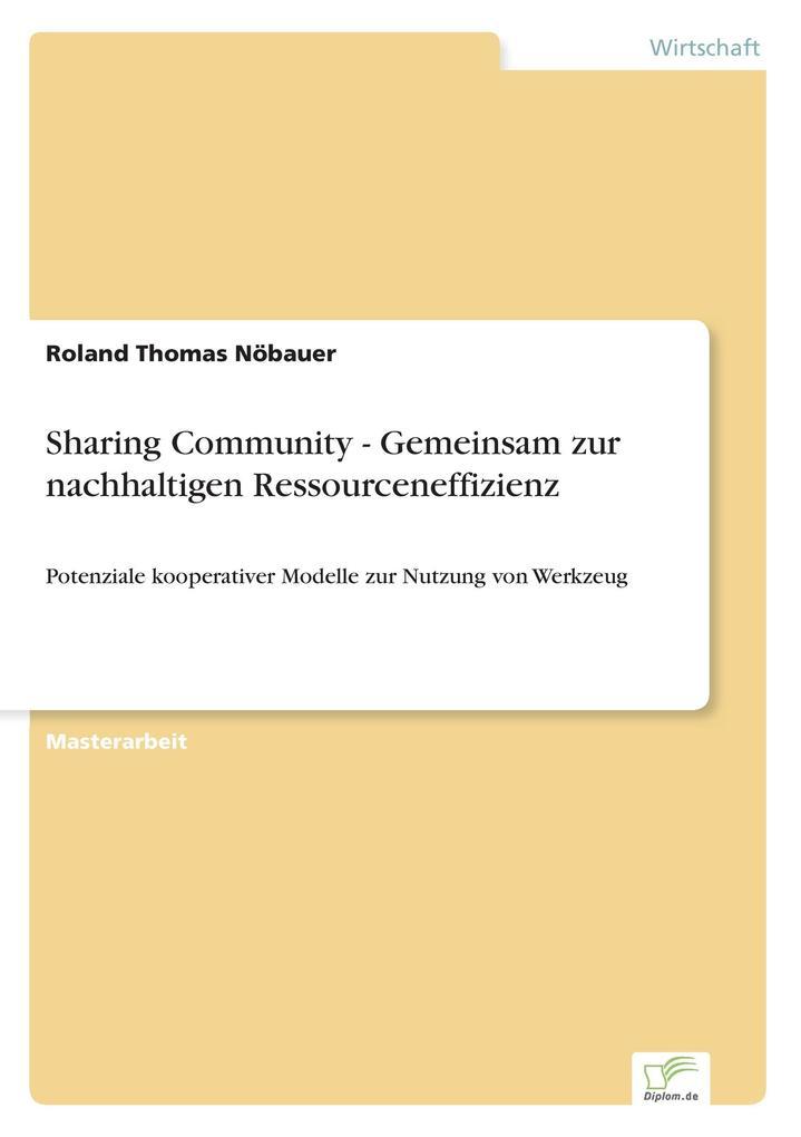 Sharing Community - Gemeinsam zur nachhaltigen ...