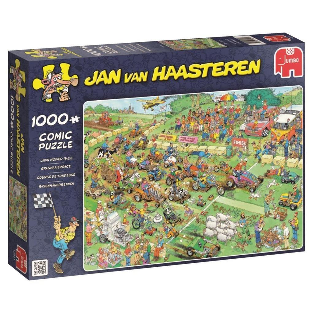 Jan van Haasteren Rasenmäherrennen Puzzle 1000 Teile Spiel Deutsch 2015