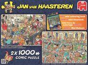 Jan van Haasteren - Happy Holidays - Puzzle 2 x 2000 Teile + Malbuch gratis