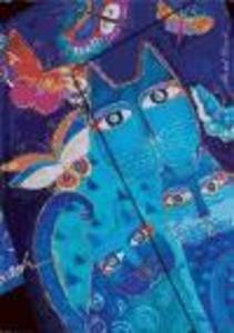 FELINES BLUE CATS BUTTERFLIES MIDI JOURN als Buch