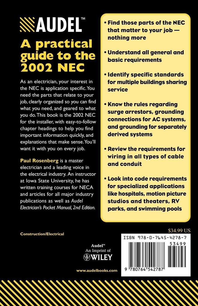 Installation Requirements of the 2002 National Electrical Code als Taschenbuch