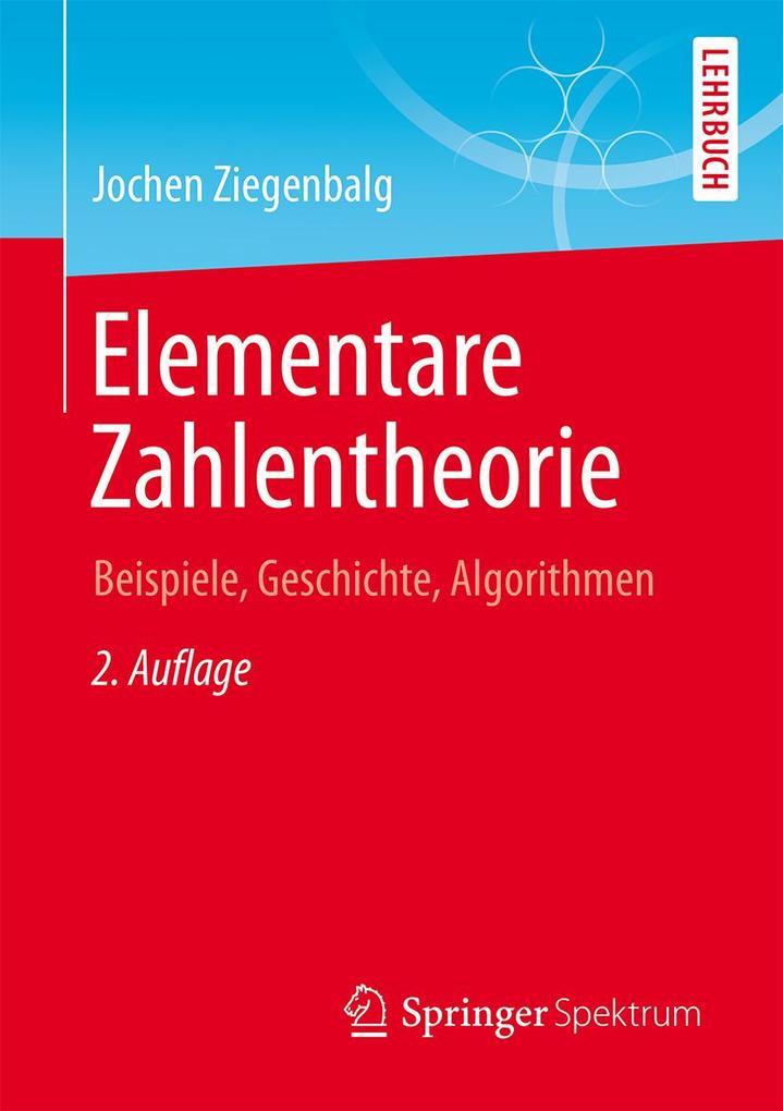 Elementare Zahlentheorie als eBook Download von...
