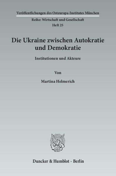 Die Ukraine zwischen Autokratie und Demokratie. als Buch (kartoniert)