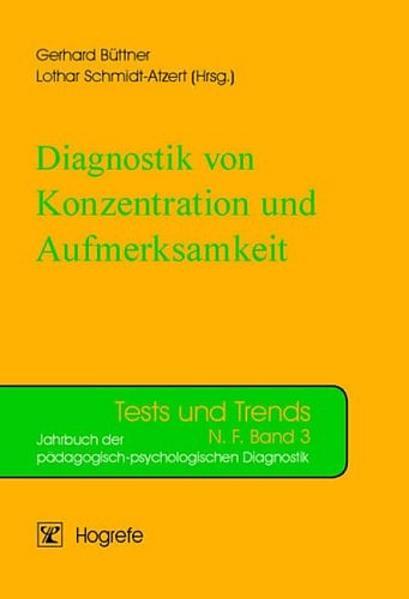 Diagnostik von Konzentration und Aufmerksamkeit als Buch