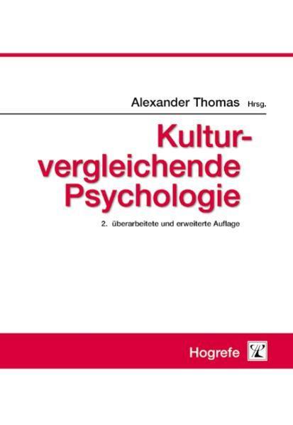 Kulturvergleichende Psychologie als Buch von