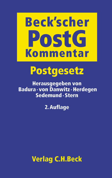 Beckscher PostG - Kommentar als Buch