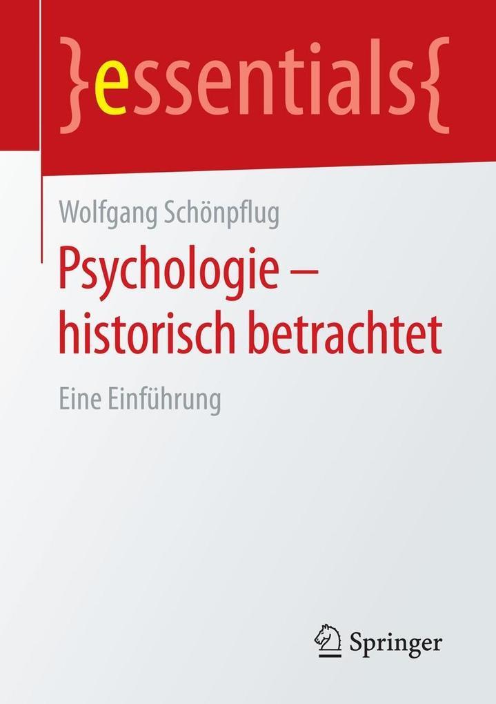 Psychologie - historisch betrachtet als eBook D...