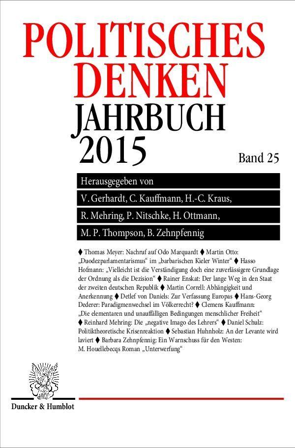 Politisches Denken. Jahrbuch 2015. als Buch von