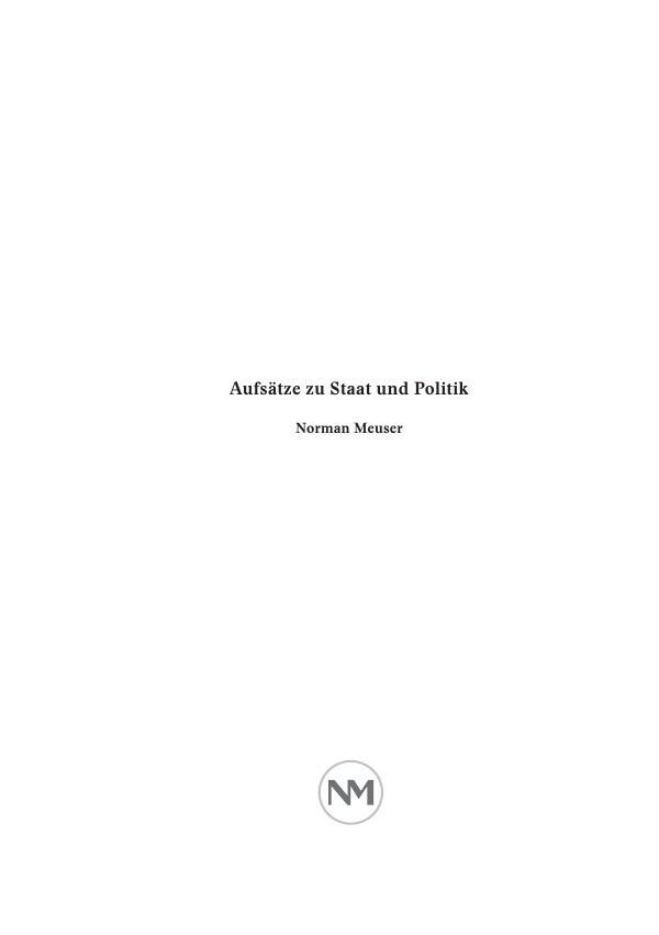 Aufsätze zu Staat und Politik als Buch von Norm...