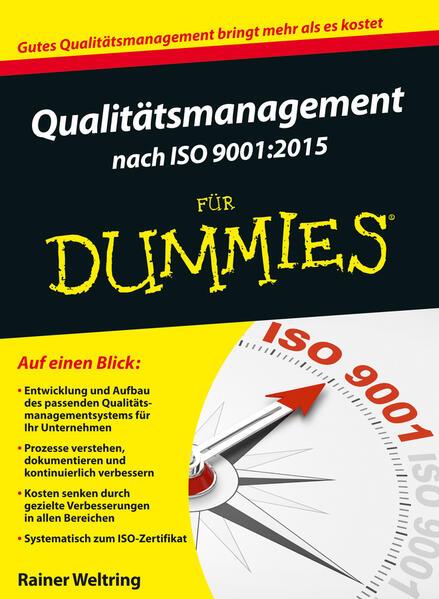 Qualitätsmanagement nach ISO 9001:2015 für Dummies als Buch