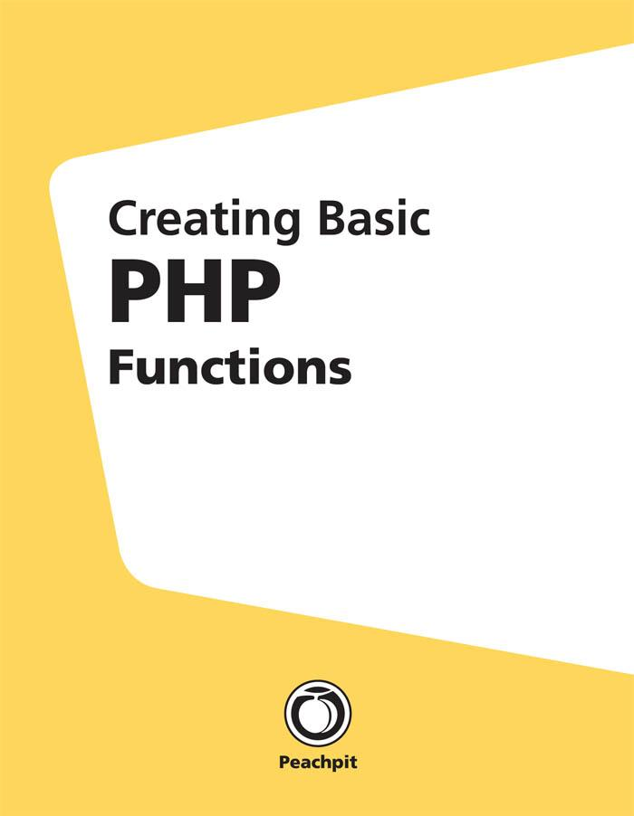 Creating Basic PHP Functions als eBook Download...
