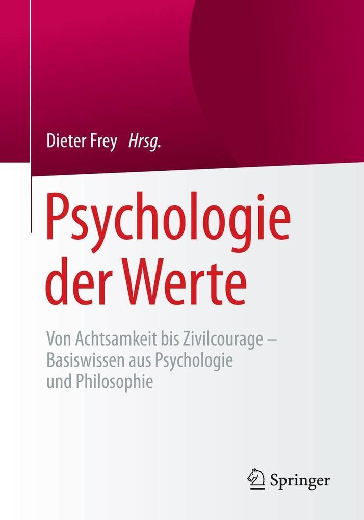 Psychologie der Werte als eBook Download von