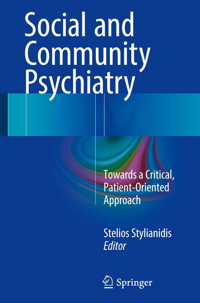 Social and Community Psychiatry als Buch von