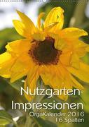 Nutzgartenimpressionen OrgaKalender 16 Spalten 2016 (Wandkalender 2016 DIN A2 hoch)