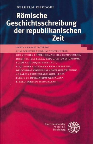 Römische Geschichtsschreibung der republikanischen Zeit als Buch