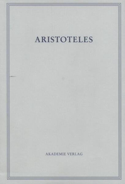 Werke in deutscher Übersetzung 14. Parva Naturalia II als Buch