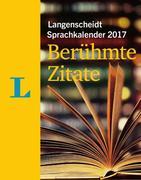 Langenscheidt Sprachkalender 2017 Berühmte Zitate - Abreißkalender