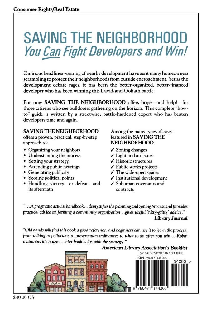 Saving the Neighborhood: You Can Fight Developers and Win! als Taschenbuch