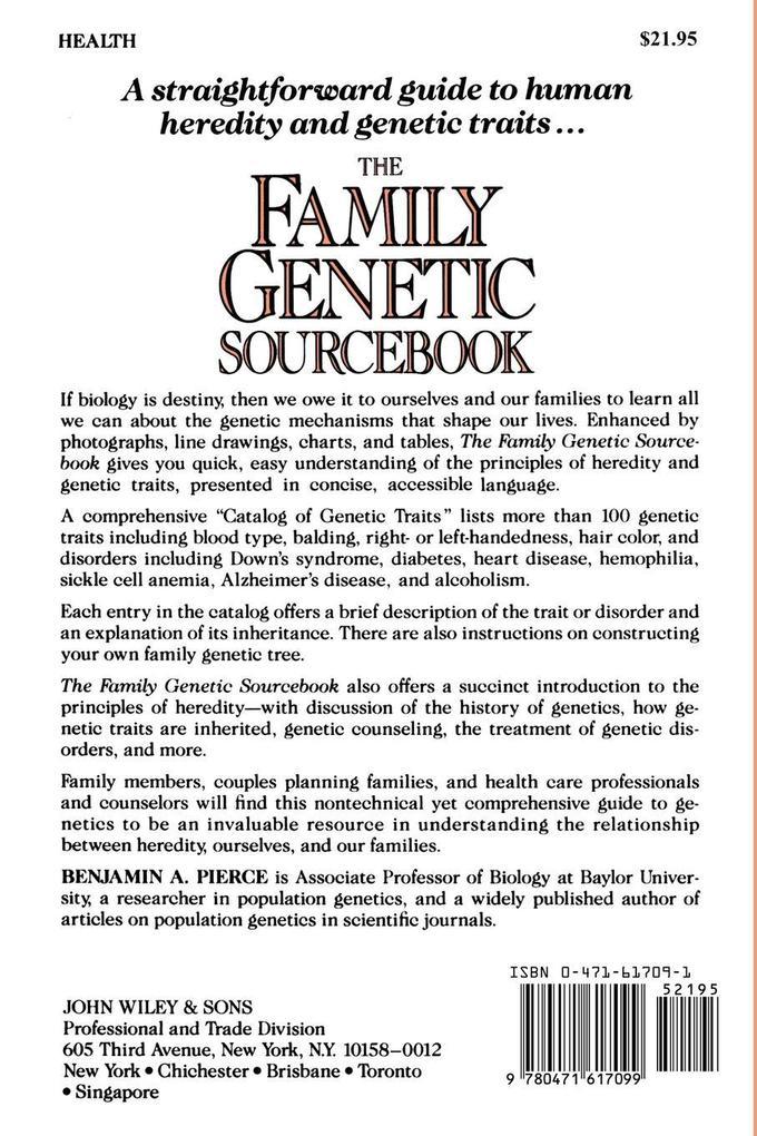 The Family Genetic Sourcebook als Taschenbuch