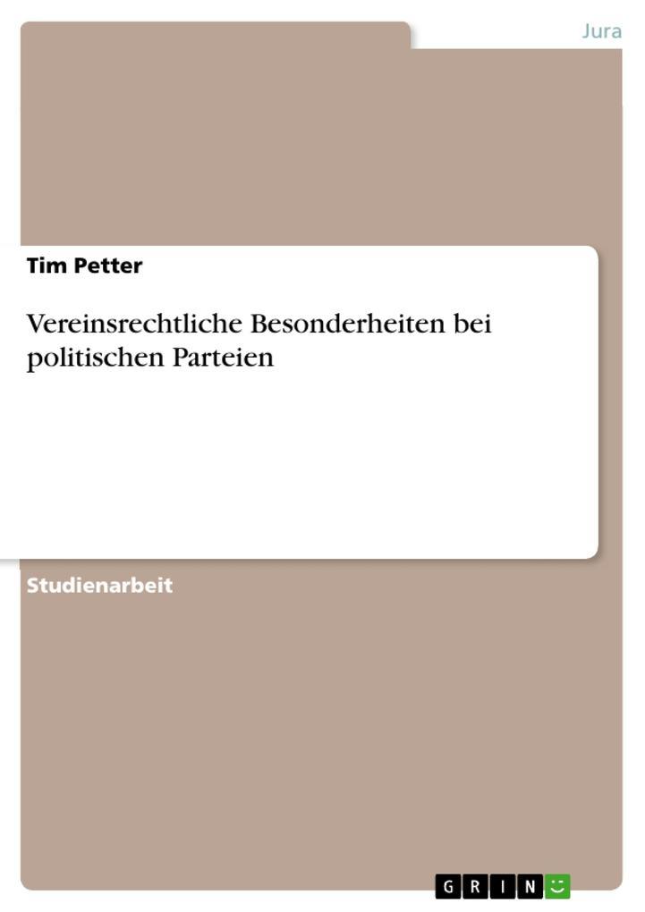 Vereinsrechtliche Besonderheiten bei politische...
