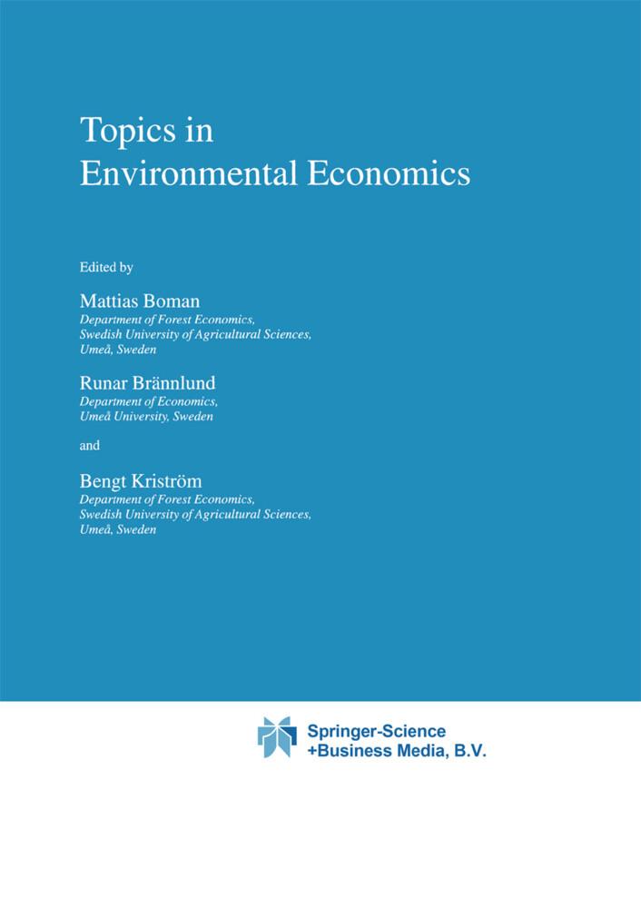 Topics in Environmental Economics als Buch
