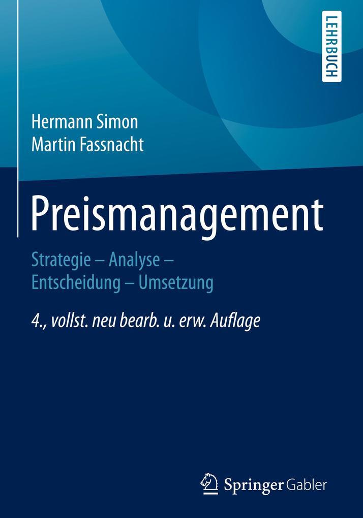 Preismanagement als Buch