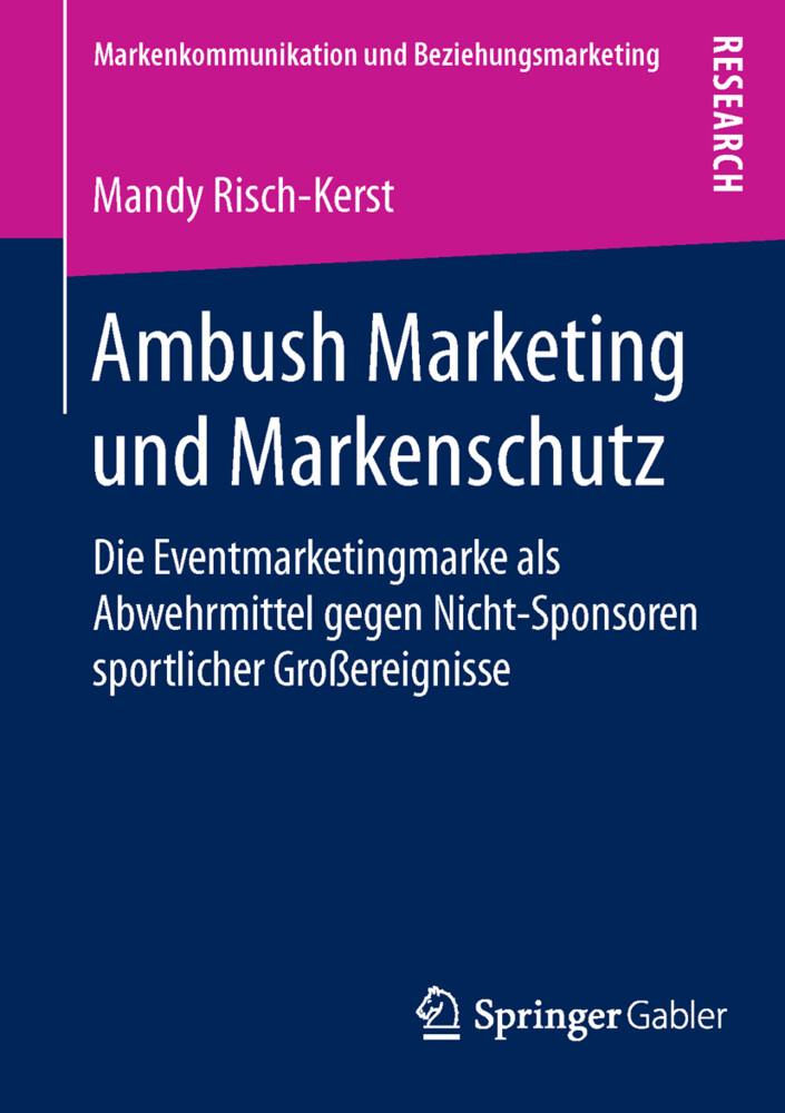 Ambush Marketing und Markenschutz als Buch von ...