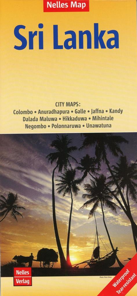 Nelles Map Sri Lanka Polyart-Ausgabe 1:500.000 ...