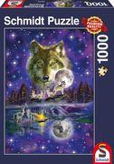 Wolf im Mondlicht. Puzzle 1.000 Teile