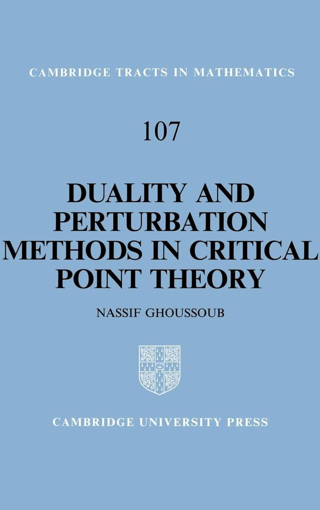 Duality and Perturbation Methods in Critical Point Theory als Buch