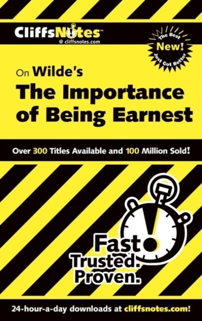 "CliffsNotes on Wilde's ""The Importance of Being Earnest"" als Taschenbuch"