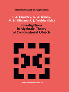 Investigations in Algebraic Theory of Combinatorial Objects