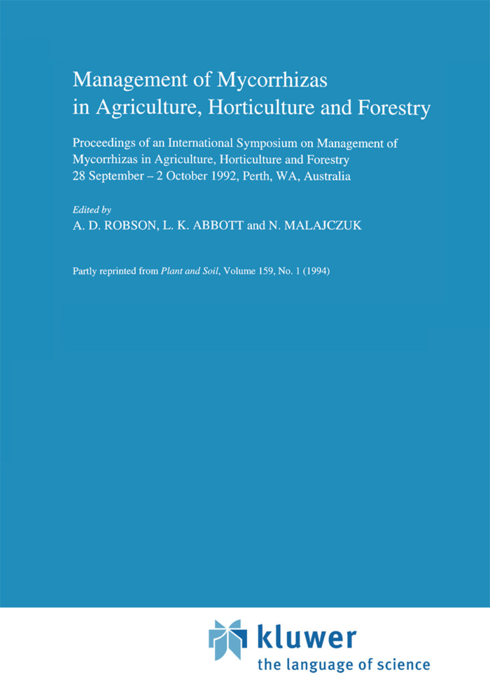 Management of Mycorrhizas in Agriculture, Horticulture and Forestry als Buch
