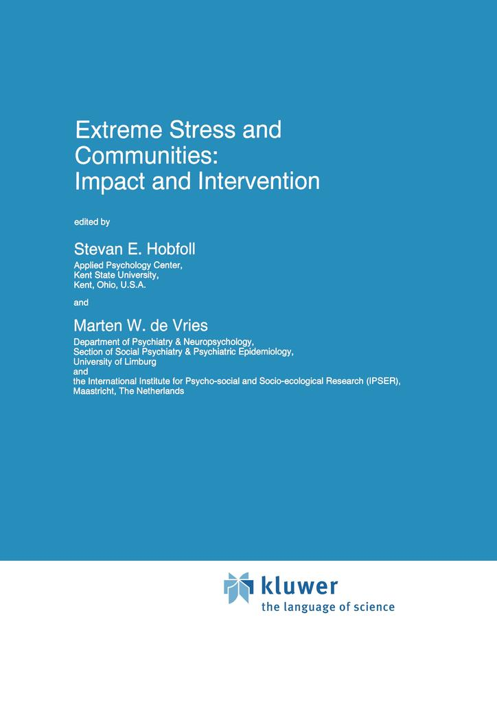Extreme Stress and Communities: Impact and Intervention als Buch