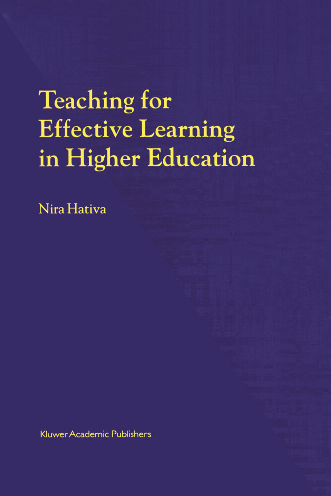 Teaching for Effective Learning in Higher Education als Buch