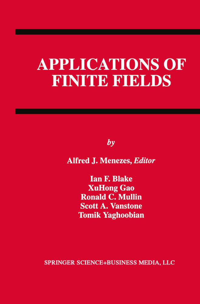 Applications of Finite Fields als Buch