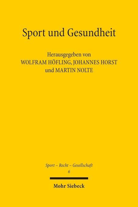 Sport und Gesundheit als Buch von