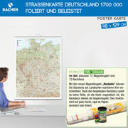 """Straßenkarte Deutschland 1 : 700 000 foliert und beleistet, Edition Neoballs ( 72 Magnetkugeln 5mm """"Neoballs"""", Set 4 x 18 Stück (grün, gelb, blau, rot) inkl. 72 Backdiscs)"""