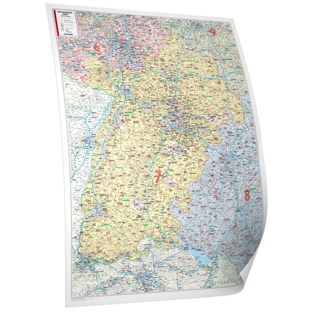 Bad.-Württemberg 1 : 250 000 foliert und beleis...