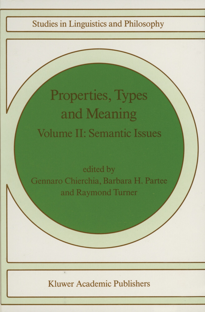 Properties, Types and Meaning als Buch